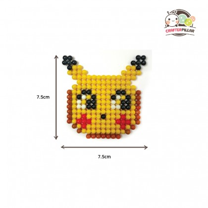 MONSTER (POKEMON SERIES) - DIY BEANIES CRAFT WITH MAGIC WATER FUSE & STICKY BEADS FOR KIDS
