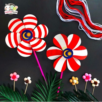 DIY Merdeka Pinwheel Festival Craft (Enjoy Special Price for Bundle Purchase)