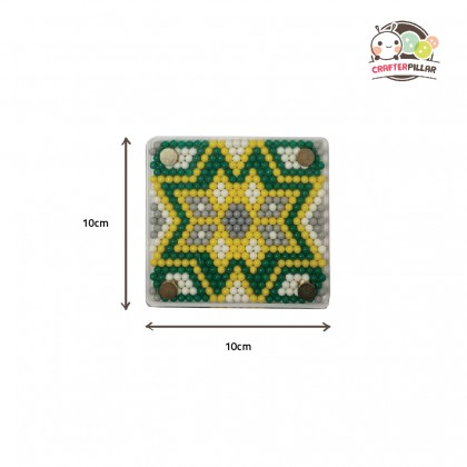 MANDALA COASTER - DIY BEANIES CRAFT WITH MAGIC WATER FUSE & STICKY BEADS FOR KIDS