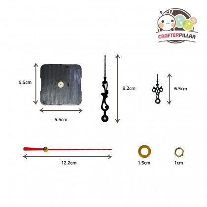 Clock Gadget Raw Material (5 pcs in 1 set) Enjoy Special Price for Bundle Purchase