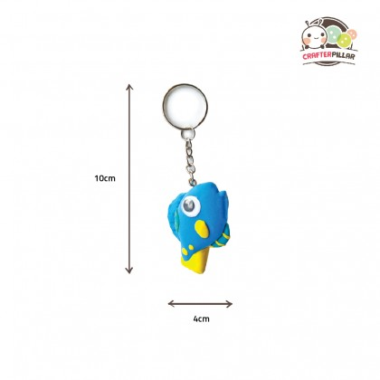 DIY Fish & Octopus Keychain Air Clay Kit (Enjoy Special Price for Bundle Purchase)