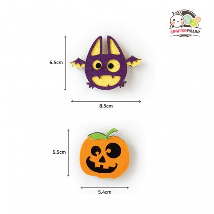 Halloween Button Badge Wooden Craft (Enjoy Special Price for Bundle Purchase)