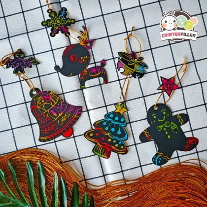 Christmas Scratch Deco Festival Craft (Enjoy Special Price for Bundle Purchase)