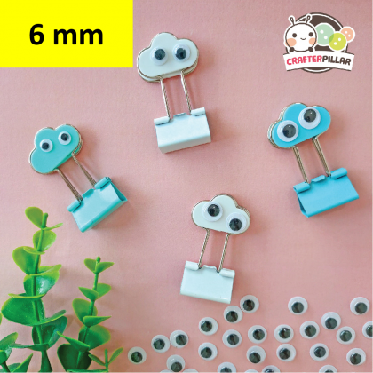 6mm Wiggly Eye Sticker Raw Material (100 pcs in 1)
