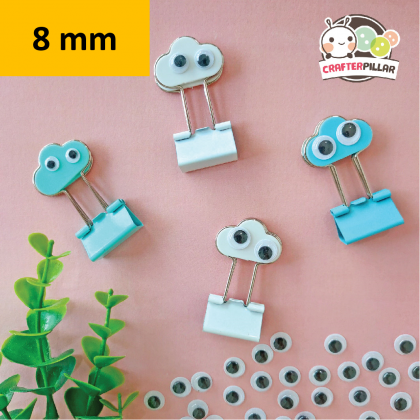 8mm Wiggly Eye Sticker Raw Material (100 pcs in 1)