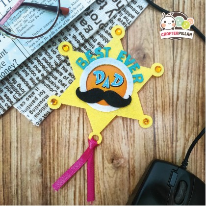Felt Father's Day Sheriff Star Badge Festive Craft (Enjoy Special Price for Bundle Purchase)