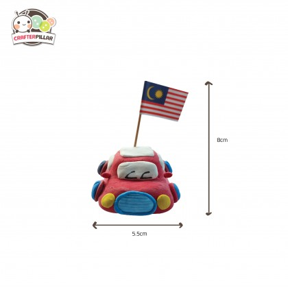 Malaysia Day Toy Car Air Clay Craft (ENJOY SPECIAL PRICE FOR BUNDLE PURCHASE)